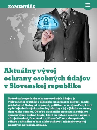 913d4ee1f Aktuálny vývoj ochrany osobných údajov v Slovenskej republike   06/2014    EPRAVO.CZ Reader