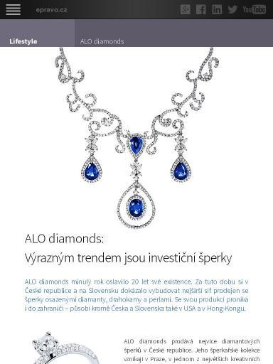 1a14555363 Lifestyle - ALO diamonds  Výrazným trendem jsou investiční šperky ...
